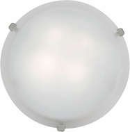 Access 23019LED-BS-WH Mona Brushed Steel & White Glass LED Ceiling Lighting