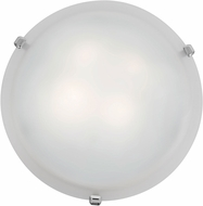 Access 23019LED-CH-WH Mona Chrome & White Glass LED Ceiling Light Fixture