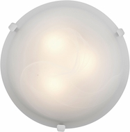 Access 23019LED-WH-ALB Mona White & Alabaster Glass LED Flush Lighting