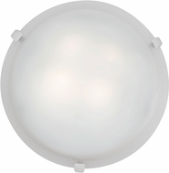 Access 23019LED-WH-WH Mona White & White Glass LED Flush Mount Lighting