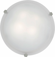 Access 23020LED-BS-WH Mona Brushed Steel & White Glass LED Flush Mount Light Fixture