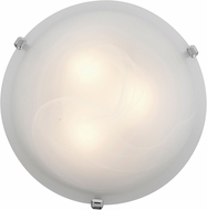 Access 23020LED-CH-ALB Mona Chrome & Alabaster Glass LED Flush Mount Lighting Fixture