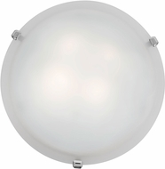 Access 23020LED-CH-WH Mona Chrome & White Glass LED Flush Ceiling Light Fixture