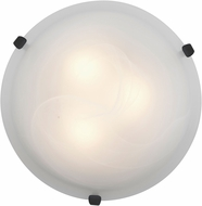 Access 23020LED-RU-ALB Mona Rust & Alabaster Glass LED Flush Mount Ceiling Light Fixture