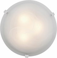 Access 23020LED-WH-ALB Mona White & Alabaster Glass LED Overhead Light Fixture