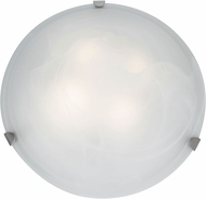 Access 23021LED-BS-ALB Mona Brushed Steel & Alabaster Glass LED Ceiling Lighting