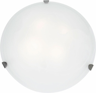 Access 23021LED-BS-WH Mona Brushed Steel & White Glass LED Ceiling Light