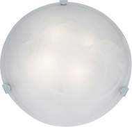 Access 23021LED-CH-ALB Mona Chrome & Alabaster Glass LED Ceiling Light Fixture
