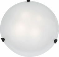 Access 23021LED-RU-WH Mona Rust & White Glass LED Flush Lighting