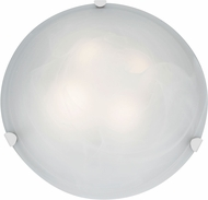 Access 23021LED-WH-ALB Mona White & Alabaster Glass LED Flush Mount Lighting