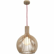 Access 23773-WD-nAT Kobu Modern Wood / Natural Finish 18  Tall Hanging Pendant Lighting