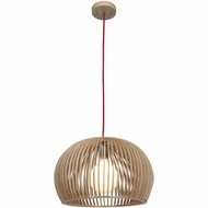 Access 23775-WD-nAT Kobu Modern Wood / Natural Finish 15  Tall Pendant Hanging Light