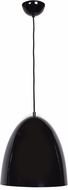 Access 23776-SBL-WHT Nostalgia Modern Shiny Black Pendant Light