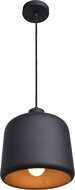 Access 23778-MBL-MGL Nostalgia Contemporary Matte Black Mini Hanging Lamp
