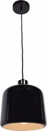 Access 23778-SBL-WHT Nostalgia Modern Shiny Black Mini Hanging Light