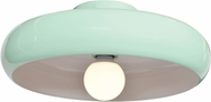 Access 23880LEDDLP-MGRN-WHT Bistro Modern Mint Green and White LED 16  Flush Mount Ceiling Light Fixture