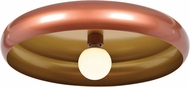 Access 23881LEDDLP-CP-GLD Bistro Modern Copper and Gold LED 24  Overhead Light Fixture