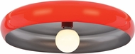 Access 23881LEDDLP-RED-SILV Bistro Contemporary Red and Silver LED 24  Ceiling Light