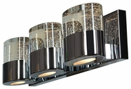 Access 23927-CH-CLR Bubbles Contemporary Chrome Finish 19 Wide Halogen 3-Light Lighting For Bathroom