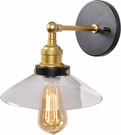 Access 24000LEDDLP-BGL-CLR The District Contemporary Black and Gold LED Wall Lamp