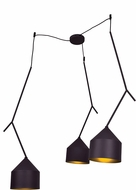 Access 24880LEDDLP-BL-GLD Pizzazz Contemporary Black and Gold LED Multi Drop Ceiling Lighting