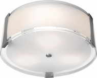 Access 50120LEDD-BS-OPL Tara Contemporary Brushed Steel & Opal Glass LED Flush Mount Light Fixture