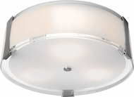 Access 50121LEDD-BS-OPL Tara Modern Brushed Steel & Opal Glass LED Flush Mount Lighting Fixture