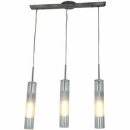 Access 50548-BS-CLOP Dezi Contemporary Brushed Steel Finish 1.75  Wide Multi Drop Lighting