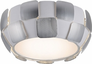 Access 50900LEDD-WH-CH Layers Modern Chrome & White Acrylic LED Flush Ceiling Light Fixture