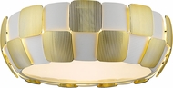 Access 50901-WH-GLD Layers Modern Gold & White Acrylic Fluorescent Flush Lighting