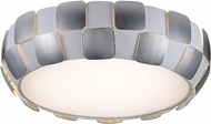 Access 50902-WH-CH Layers Contemporary Chrome & White Acrylic Fluorescent Flush Ceiling Light Fixture