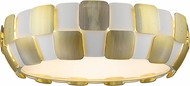 Access 50902-WH-GLD Layers Modern Gold & White Acrylic Fluorescent Flush Mount Ceiling Light Fixture