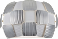 Access 50907LEDD-WH-CH Layers Modern Chrome & White Acrylic LED Wall Light Sconce