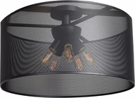 Access 50923-BL Epic Contemporary Black Medium Flush Mount Lighting Fixture
