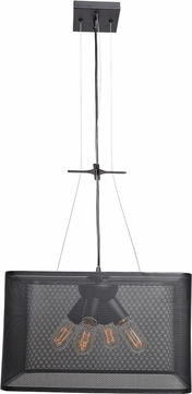 Access 50925LEDDLP-BL Epic Modern Black LED Small Pendant Lighting Fixture