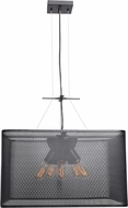 Access 50926LEDDLP-BL Epic Modern Black LED Large Hanging Pendant Light