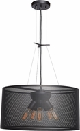 Access 50927-BL Epic Contemporary Black Small Drum Pendant Hanging Light