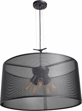Access 50928-BL Epic Contemporary Black Medium Drum Drop Lighting