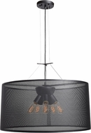 Access 50929LEDDLP-BL Epic Modern Black LED Large Drum Ceiling Pendant Light