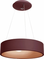 Access 50940LEDD-BRK-ACR Radiant Contemporary Brick LED Drum Pendant Light