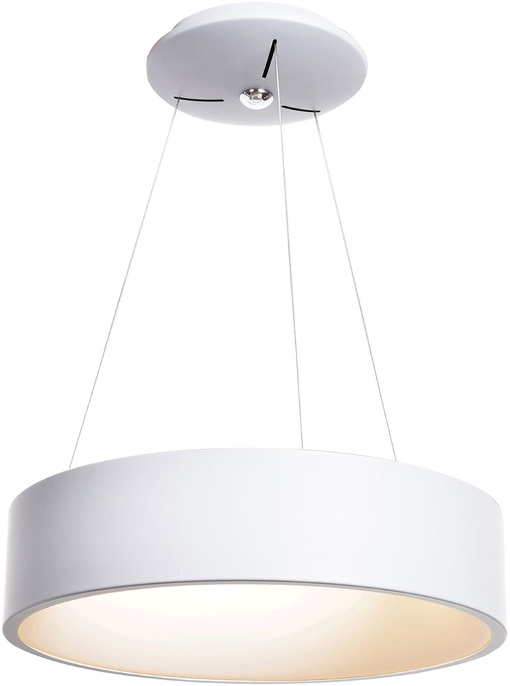 Access 50940LEDD WH ACR Radiant Contemporary White LED Drum Pendant Lamp.  Loading Zoom