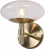 Access 52091LEDDLP-BB-CLR Grand Contemporary Brushed Brass LED Wall Lighting
