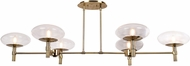 Access 52092LEDDLP-BB-CLR Grand Modern Brushed Brass LED Island Lighting