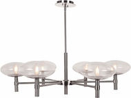 Access 52093LEDDLP-BS-CLR Grand Contemporary Brushed Steel LED Chandelier Lighting