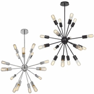 Access 55542 Flux Modern 30  Wide Chandelier Light