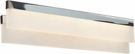 Access 62243LEDD-CH-ACR Linear Contemporary Chrome & White Acrylic LED Vanity Lighting