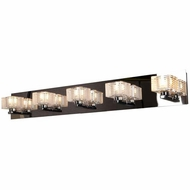 Access 62284-CH-CLFR Sophie Contemporary Chrome Finish 33 Wide Halogen 5-Light Bathroom Vanity Light