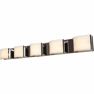 Access 62295-BS-OPL Nitro 2 Contemporary Brushed Steel Finish 48.75 Wide 5-Light Bathroom Light Sconce