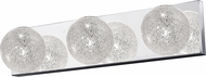 Access 62323-MSS-CLR Opulence Modern Mirrored Stainless Steel 3-Light Lighting For Bathroom