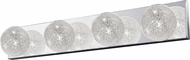 Access 62324-MSS-CLR Opulence Contemporary Mirrored Stainless Steel 4-Light Bath Lighting